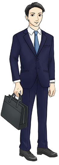 面接時の男性の服装イメージ