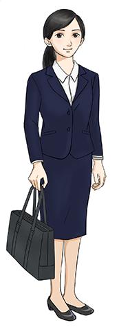 面接時の女性の服装イメージ